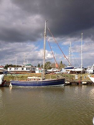 Gaff Rigged Suffolk Bawley Wooden Yacht Sailing Boat