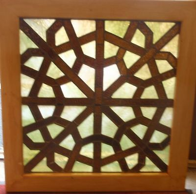 Small American Antique stained glass window
