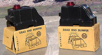 MARX TRAINS 2 Lighted Dead End Bumpers (NR)