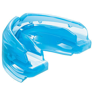 Shock Doctor Double Braces Mouthguard Mouth Piece Blue No Strap Adult New 4300A