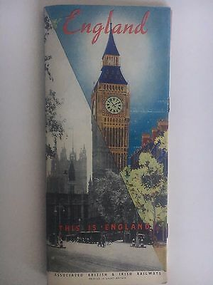 """Pre WWII 1939 """"This is England"""" Illustrated Travel Booklet Beautiful Cover"""