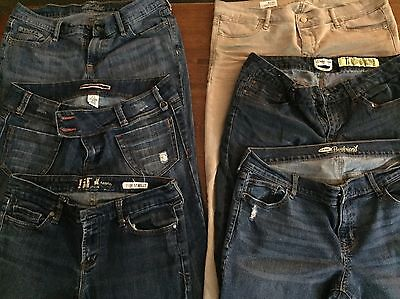 Lot Of 6 Pairs Of Nice Name Brand Jeans Size 10 And 11