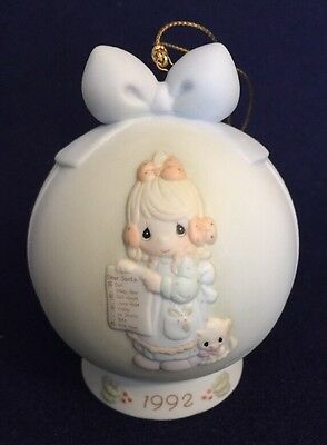 """Precious Moments """"But The Greatest Of These Is Love"""" Ornament Special 1992 Issue"""
