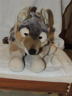 "Magnussen Home Wolf 18"" Plush Stuffed Gray Grey Timber 26"" Realistic"