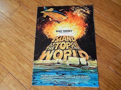 WALT DISNEY ISLAND at the TOP of the WORLD 1974 Trade AD promo poster Brochure