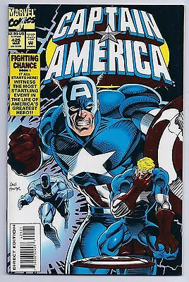 Captain America 425 NM 9.4 Most Startling Event in Caps Life Embrossed Cover