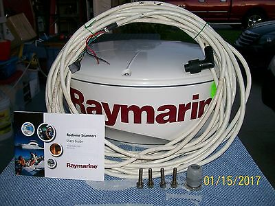"""Raymarine Pathfinder Rd218 18"""" 24Nm Radome W 15M Interconnect Cable And Manual."""