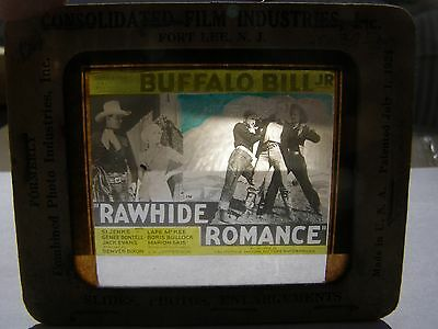 Buffalo Bill Jr  Rawhide Romance 1934 Glass Movie Slide Coming Attraction