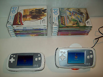 Lot of Leapfrog Diji Consoles, Accessories, and 11 Games, *For parts