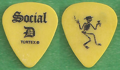 SOCIAL DISTORTION-SOCIAL D--Authentic Tour GUITAR PICK--RARE! YELLOW/BLACK!