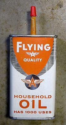 FYLING A Tidewater HOUSEHOLD HANDY OIL Tin Can Non-Porcelain Sign California NY