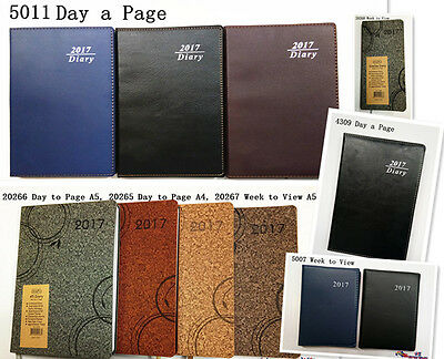 Diary 2017 A4 A5 Slimeline Day / Week To View Color Personal Organizer Diary