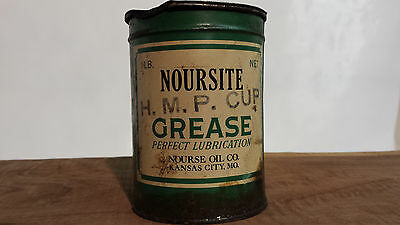 "Vintage Nourse Oil Co."" Nourseite""  1# Grease Can"