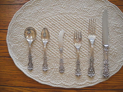 Place Setting Of 6 Pieces  Reed And Barton Francis I Sterling Silver Dinnerware