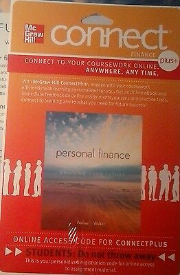 NEW Connect Plus Access Card/Code for Personal Finance McGraw Hill Walker 2012