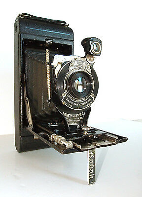 Vintage Eastman Kodak No.1 A Pocket Folding Camera with Stylus and Leather Case