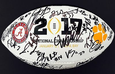 2017 Clemson Tigers Team Signed Championship Football Ben Boulware Proof 40+