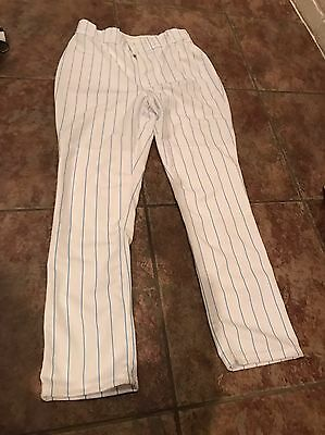 Wilson Mens Blue and White Stripped Baseball Pants Size 34 NEW