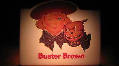 Vintage Buster Brown & Dog Shoe Advertising Sign - Very Nice ! Light up Sign ???