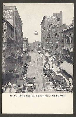 St Paul MN Minnesota Postcard~5th Street Looking East from Hotel CP Gibson