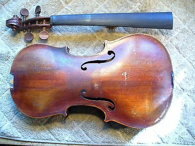 Old Violin with Gafted Neck, Repair Project for Luthier, no reserve