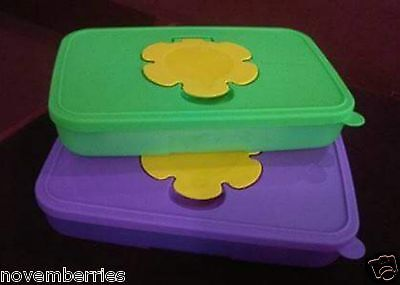 Tupperware TupperCare Baby Wipes Dispenser Tissue Box 550ml (2) NEW,Free Postage