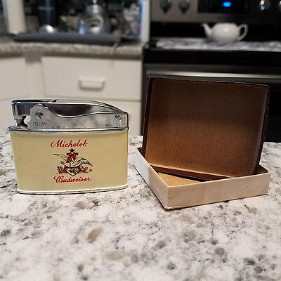 RUBY Super Deluxe Automatic Lighter Anheuser Busch Michelob Budweiser Beer