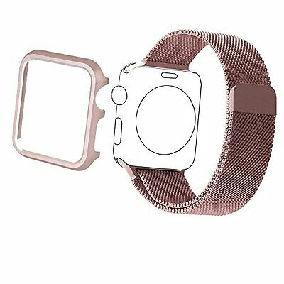 38mm Aluminum Case & Band Accessory Strap for Apple Watch Series 2 1 Rose gold