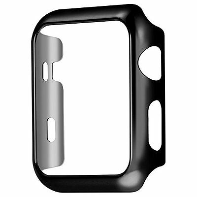 Plate Gloss Face Cover Case Protective Black Color 42mm For Apple Watch Series 2