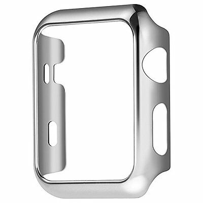 Plate Gloss Face Cover Case Protective Silver color 42mm For Apple Watch Series2