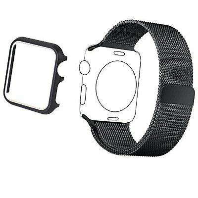 42mm Aluminum Case & Band Accessory Strap for Apple Watch Series 2 1 Black Color