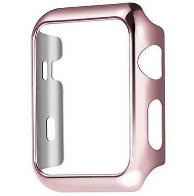 Plate Gloss Face Cover Case Protective Rose gold 38mm For Apple Watch Series 2