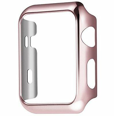 Plate Gloss Face Cover Case Protective Rose gold 42mm For Apple Watch Series 2