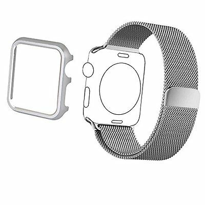 42mm Aluminum Case Band Accessory Strap for Apple Watch Series 2 1 Silver Color