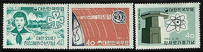 Korea SC# 325, 348 and 349, Mint Hinged, Hinge Remnant  -  Lot 010817