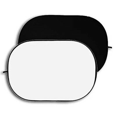 Fotodiox Pro 5x7' 2-in-1 Black/white Collapsible Background Panel