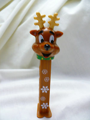 PEZ ~ Christmas Holiday ~ Reindeer Issue A ~ Snowflake Stem ~ 5.9 China ~ Loose