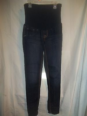 Fade To Blue Brand Dark Blue Maternity Skinny Jeans -- Sz Small