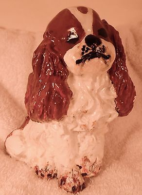 Dog Figurine ENGLISH TOY SPANIEL Blenheim (Red & White)  ONE OF A KIND GREAT