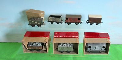 Trix 7 Wagons Ho /oo Gauge Mixed Lot Some Boxed