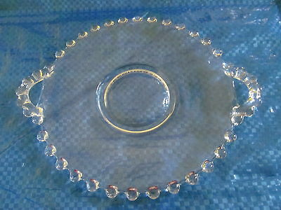 """Vintage Imperial Glass CANDLEWICK Plate Serving Dish w/Handles 6"""""""