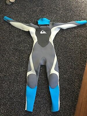 Quiksilver Boys Syncro 4/3 Chest Zip Steamer Size 12