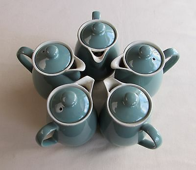 FIVE Denby Regency Green Coffee/Hot Water Pots 1960s Old Mark 1 Pt British CAFE