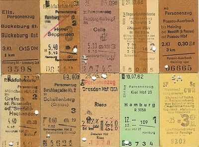 Railway tickets Germany mixed variety dates, fares etc as seen 1