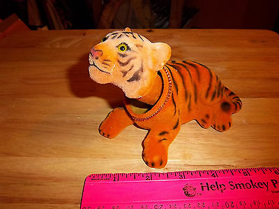 NEW fuzzy Tiger Bobble head, 5 inches long, very nice collectible