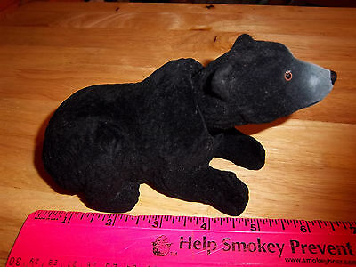 NEW fuzzy Black Bear Bobble head, 6 inches long, very nice collectible