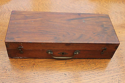 Very old and unique Victorian painter's box with key