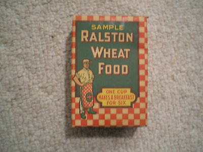 Ralston Wheat Food Sample Size Cereal Box Vintage 1917 Complete