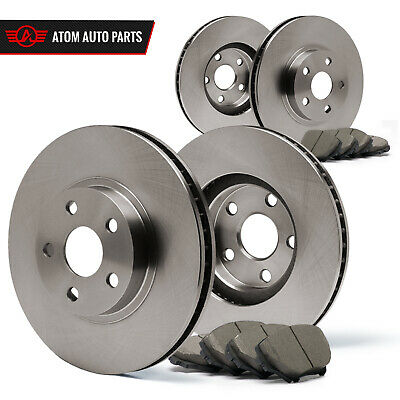 2010 2011 Audi A4 (See Desc.) (OE Replacement) Rotors Ceramic Pads F+R
