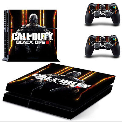 Black Ops 3 Skin Sticker For Sony PS4 Playstation 4 Console + 2 Controllers (3)